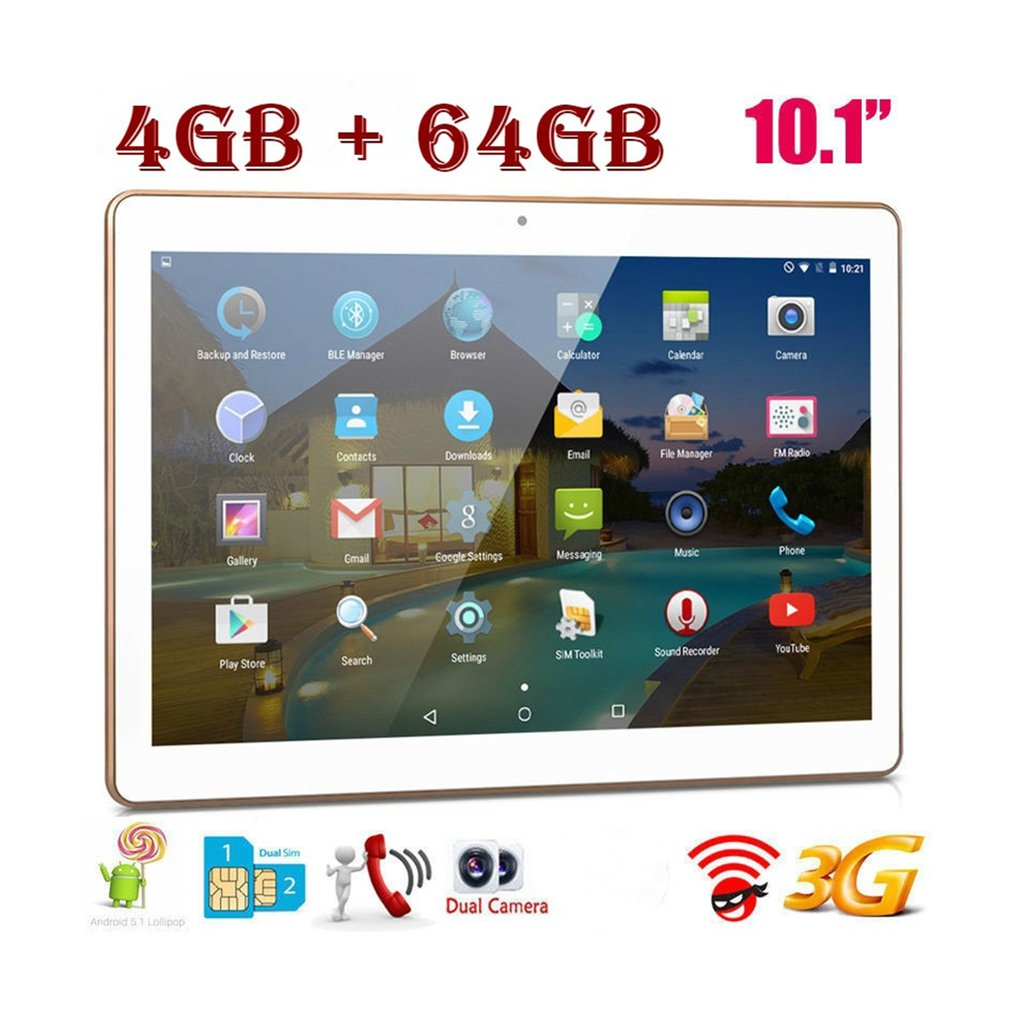 10.1 Inch 4G+64G Tablet Fits for Android System 6.0 HD Display Screen Plastic Tablet10.1 Inch 4G+64G Tablet Fits for Android System 6.0 HD Display Screen Plastic Tablet