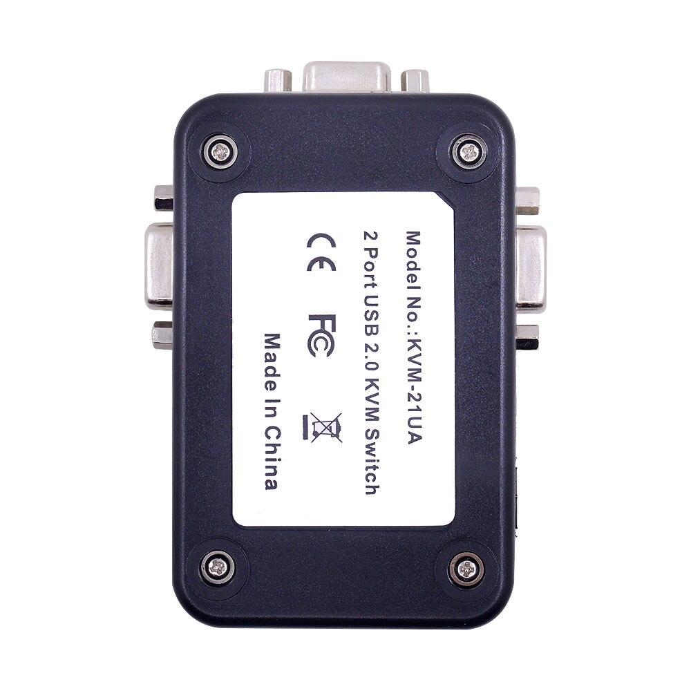 Ingelon USB Hub 2 Port USB 2.0 KVM VGA Switch Box And Cables for 2 PC Printer Mouse Keyboard Monitor Dropshipping USB Adapter (3)