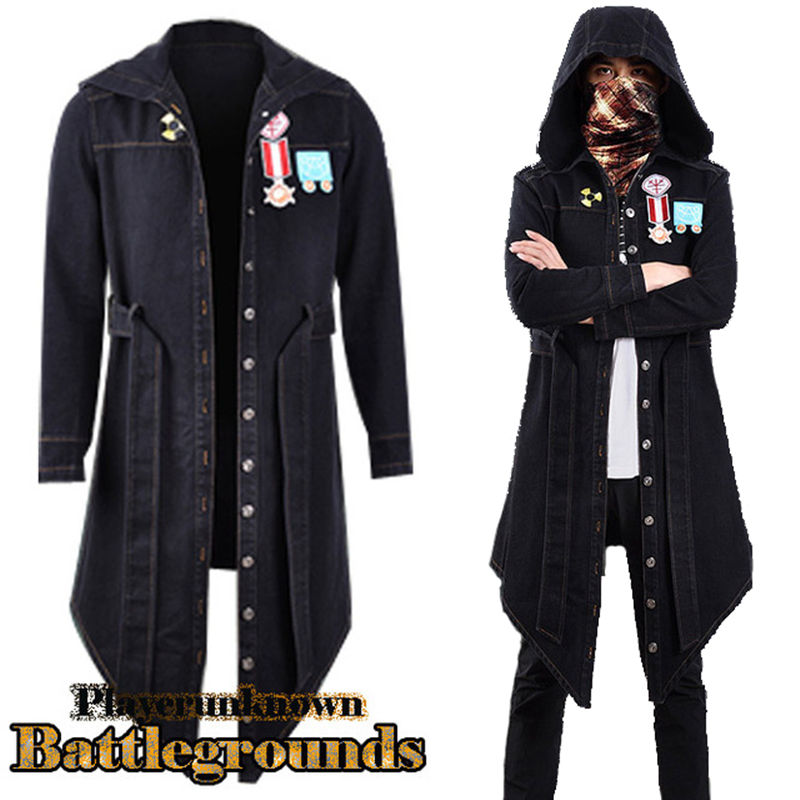 Game Costumes Hot Game Pubg Cosplay Costumes European Style Mens Fashion Double-breasted Long Style Trench Coat Winter Long Trench Jackets Online Discount Novelty & Special Use
