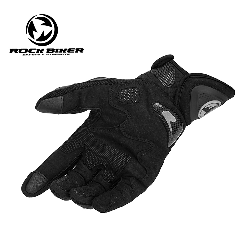 ROCKBIKE GOAT SKIN Motorcycle Gloves Motocross glove leather carbon fiber shell motor glove car guantes Men Women Red-in Gloves from Automobiles & Motorcycles    2