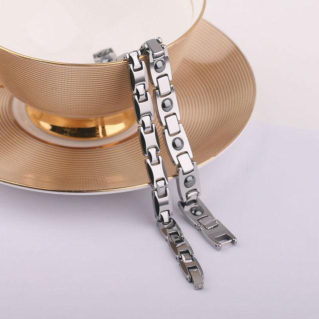 Tungsten Carbide Magnetic Bracelet