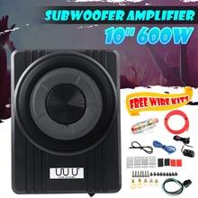 10″ 600W  Ultra Thin Car Active Subwoofer Speaker Under Seat Vehicle Subwoofer Bass Amplifier Enclosure Car Audio Amplifier