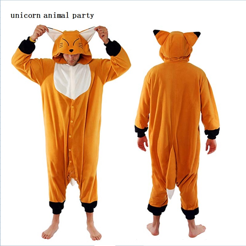Kigurumi Onesies Cosplay prices Halloween pajamas shorts orange fox Cosplay costume unisex cartoon adult animal sports pajamas