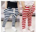 New Hot Children Harem Pants Fit 3-7Yrs Girls Boys Spring Autumn Casual Trousers Kids Cotton Striped Pants Baby Clothing Retail