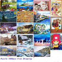 10 TYPES NEW 1000 pieces WOODEN landscape puzzle WOODEN jigsaw adult Kids educational Toy Christmas adult puzzles 1000 pieces