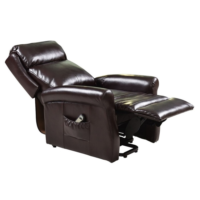 Brown Electric Lift Recliner Chair w/ Footrest 3