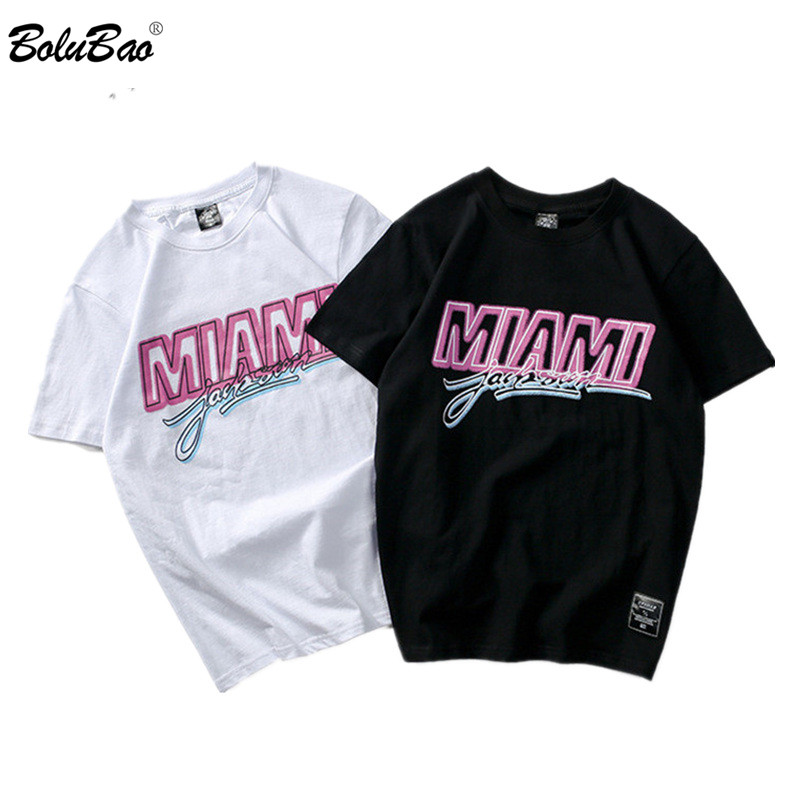 BOLUBAO New Fashion Men T-Shirts Letter Printing 2019 Hip Hop Men's T Shirt  Casual Street Clothing Tee Top