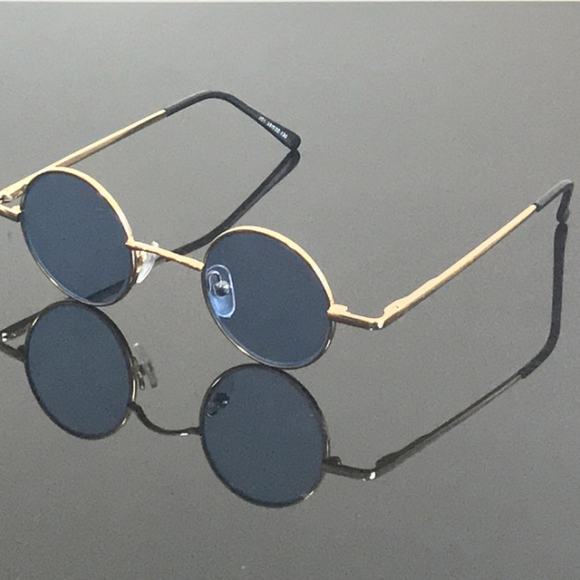 90a71233bec4 Vintage small Round Spring Hinges Gray Reading Sunglasses Retro Glasses +75  +100 +125 +150 +175 +200 +225 +250 +275 +300