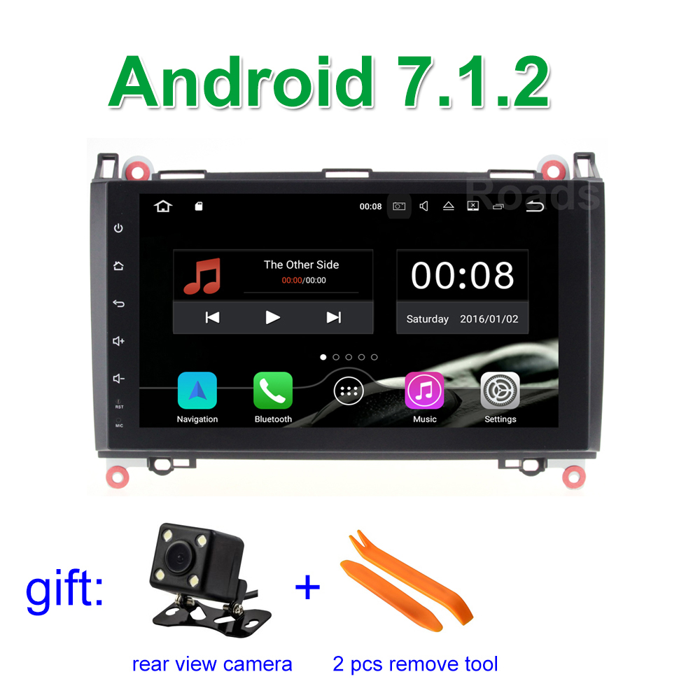 2 gb RAM Android 7.1.2 Voiture DVD Stéréo pour Mercedes/Benz A/B classe W169 W245 Viano Vito VW Crafter B200 avec WiFi GPS Radio