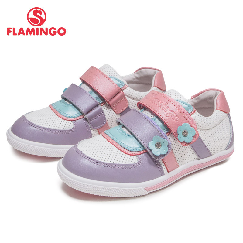 FLAMINGO Breathable Hook& Loop Patchwork Orthotic Arch Support Spring& Summer Outdoor Size 27-32 Casual Shoes for Girl 61-XP130 кресло 6 5103 mebelvia