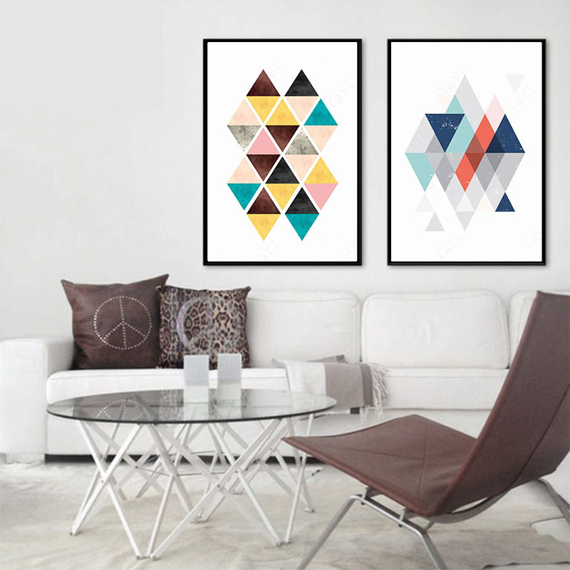 Bedroom Art Supplies: HAOCHU Home Office Decor Painting Abstract Geometry
