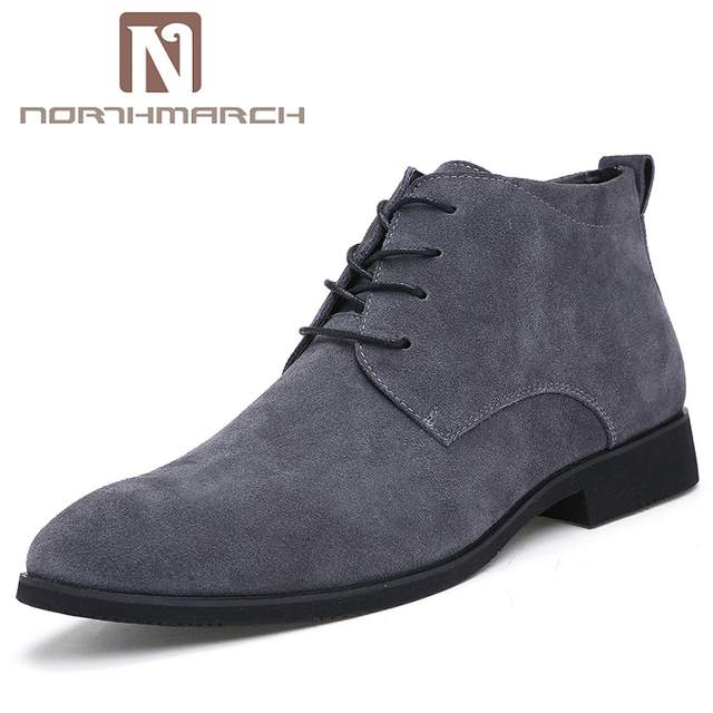 US $28.75 30% OFF|NORTHMARCH High Quality Cow Suede Chelsea Boots Men Italian Brand Ankle Boots Men Fashion Men Leather Dress Shoes Bottine Homme in