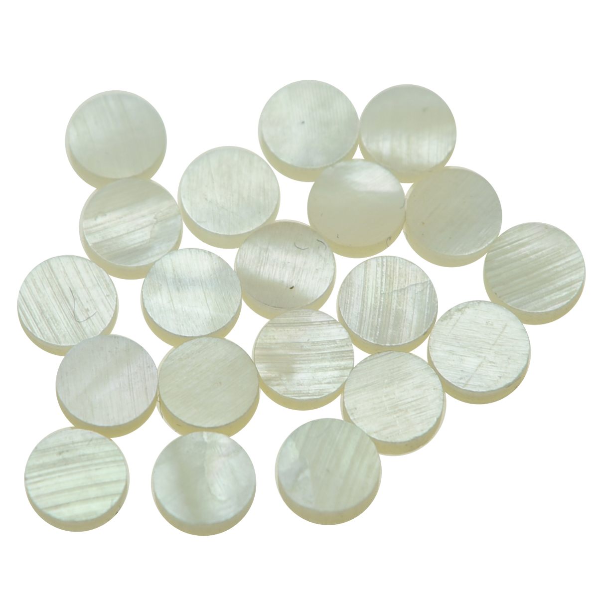 KAISH 20pcs 6mm Natural White Mother of Pearl Guitar Bass Inlay Fingerboard Fret Dots for Guitar Bass