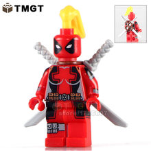 TMGT Single Sale WM211 Custom She-Deadpool Gallery Lady Deadpool Marvel Super Hero Building Blocks Set Model Toy for Children(China)