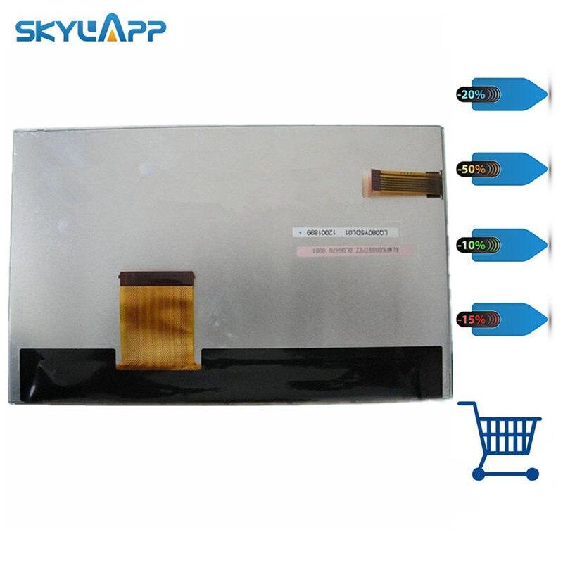 Skylarpu panneau d'affichage LCD 8 pouces pour LQ080Y5DL01 9Z000634 KLMPK0889TPZZ 9L 12H58 0128 (sans contact) livraison gratuite