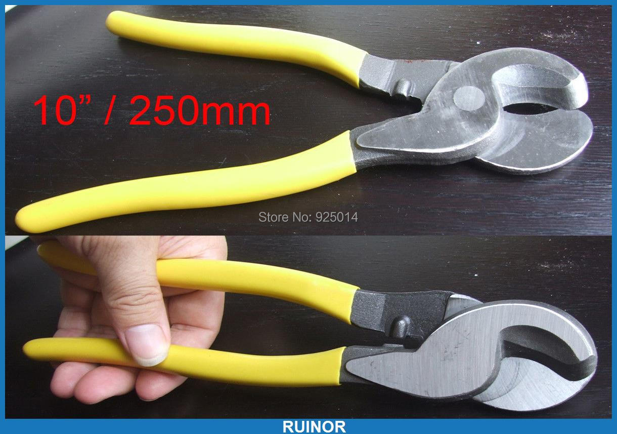 """ФОТО 1PCS 10 Inch 10"""" / 250MM Cables Wire Cutter pliers Up Wire Strippers Pliers"""