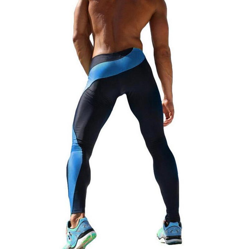 Mens Joggers Sexy Tight Pants Men Compression Pants Ankle Length Pants Male Trousers Sweatpants Skinny Exercise Sportswear 25