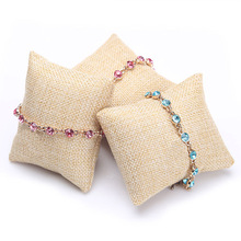 Jewelry Displays Rack Yellow Velvet Bracelet Display Fabric Bracelet Watch Pillow 20PCS/LOT