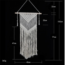 Ins wind cotton tapestry wall hanging handmade woven living room bedroom creative home decoration curtain macrame