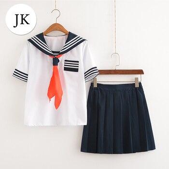 d8ea2557c Uniformes escolares de la Marina de clase japonesa uniformes para  estudiantes ropa para Cosplay niñas Anime COS Sailor colegiala traje de la  Marina