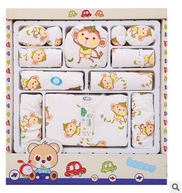 (17pcs/set)Newborn Baby 0-3M Clothing Set Brand Baby Boy/Girl Clothes 100% Cotton Cartoon baby Underwear,infant clothing Retail