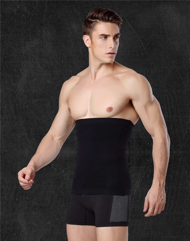 50pcs/lot Men Body Black Healthy Thin Slimming Belt waist Abdomen Shaper Burn Fat Lose Weight Waist Shapers