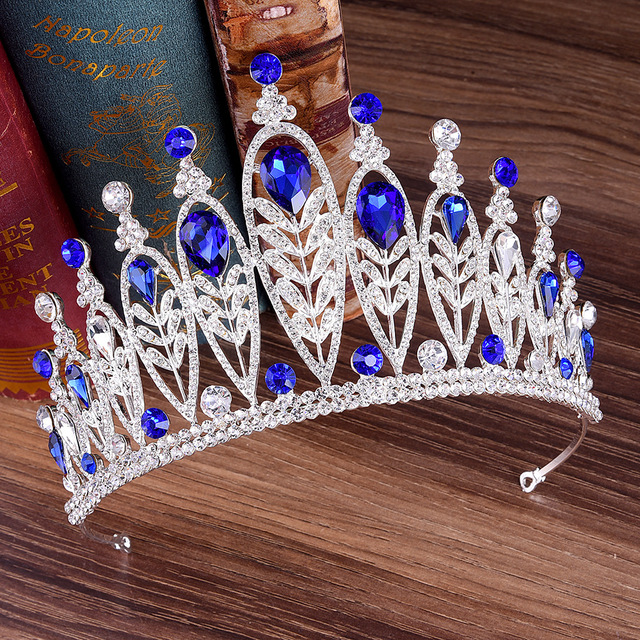DIEZI 4 Colors Crown For Wedding Gift Crystal Bridal Tiaras Bride Crown Tiaras Gorgeous Princess Headbands Hair Accessories
