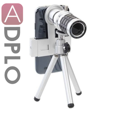 Discount! 12x Optical Zoom Phone lenses Kit, Generic Telephoto Telescope Lens + Tripod Sliver for IPhone