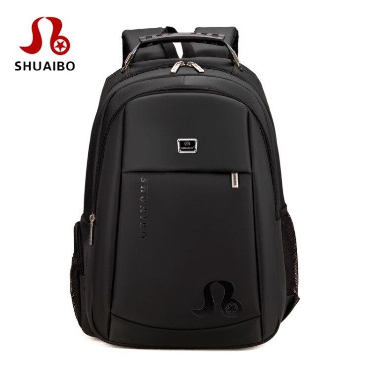 SHUAIBO Large Capacity Men Backpack Waterproof Travel Backpack Multifunctional Bag Male 14 Inch Laptop Backpacks Mochila