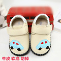 Freeshipping Spring and autumn male genuine leather toddler shoes single shoes 0-1 year old infant shoes soft outsole baby shoes