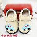 Freeshipping a Primavera Eo outono masculinos sapatos da criança de couro genuíno sapatos único 0-1 anos de idade infantil sapatos de sola macia sapatos de bebê