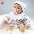 40-45cm Handmade Silicone Vinyl Reborn Baby Dolls Best NEW YEAR Gift for Little Children Toys  Baby Reborn Doll Free shipping