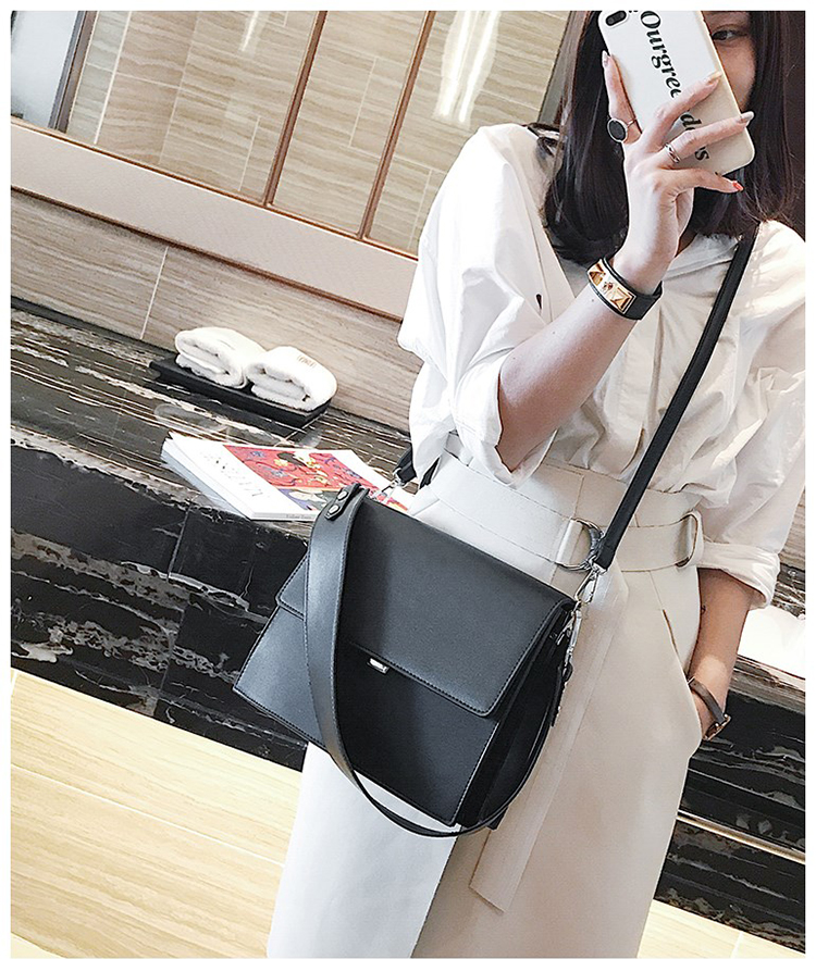 Image 4 - Big sale 2019 bags women fashion simple commute briefcase summer new small square bag wild shoulder Messenger bag multi functionsquare bagmessenger bagbag fashion -