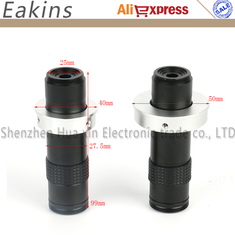 CCD CMOS Industry Video Microscope Camera C-mount Lens 1X - 120X Magnification Adjustable 2.4mm-36mm Big Visual Field hd 5mp industrial digital video camera microscope cmos c mount electronic eyepiece free diver win7 8 10