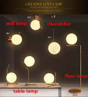 Modern Wall Lamps Wall Lamps Living Room Bedroom Bed Restaurant Lights Wall Decorative Lamparas Glass Ball LED Stand Lamp