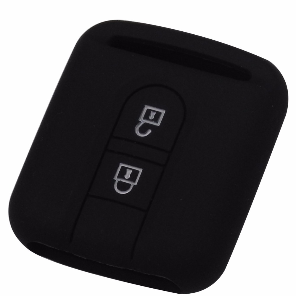 2 Buttons Remote Car Key Cover Case Fob Silicone For Nissan Qashqai Micra Navara Almera New