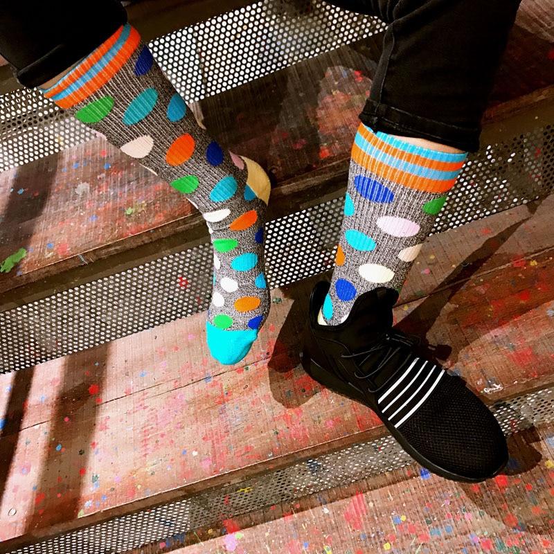 5bd581825 BTLIGE New Printed Cycling Socks Men Knee High Sport Socks Women Design  Brand Basketball Running Socks 2018 Meias Ciclismo-in Cycling Socks from  Sports ...