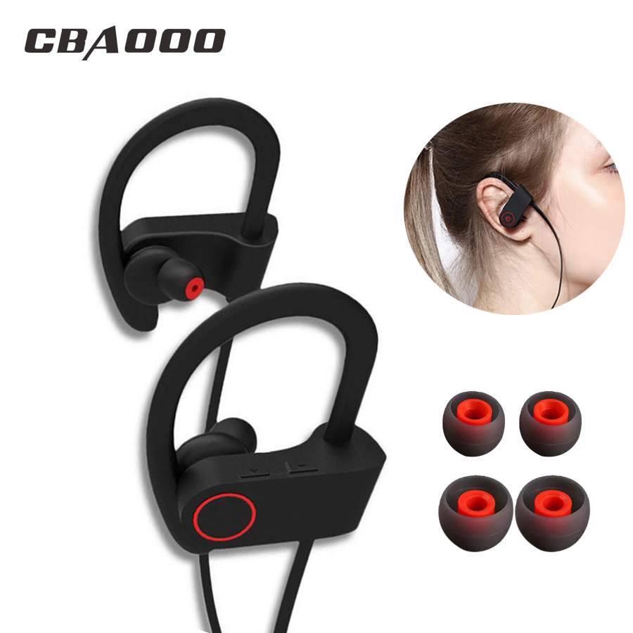 CBAOOO U8 Bluetooth Headphone Sport Wireless Bluetooth Earphone Bass Blutooth Headset Stereo IPX4 Waterproof with mic for phone gookee q9 ipx4 waterproof running ear headset stereo sport earphone wireless bluetooth headphone for mic for iphone android