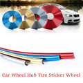 Car Styling Sticker Wheel Hub Tire Car Decorative Strip Wheel Rim Protection Care Covers Car Accessories For Ford Toyota VW Kia