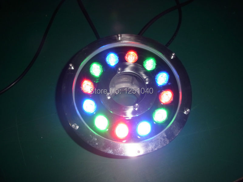 DMX512 Control Module RGB 12W Round Underwater LED Lights DC 24V Waterproof IP68 CE RoHS Outdoor Pond Lamps Fountain Lamp jiawen 9w 12w rgb swimming led pool lights underwater lamp outdoor lighting pond lights led piscina lamp dc 12 24v