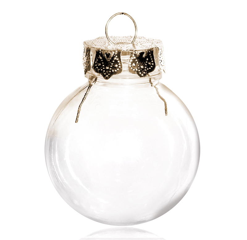 Free Shipping DIY Paintable Shatterproof Clear Christmas Decoration Gold Cap Plastic Ball 100 Pack