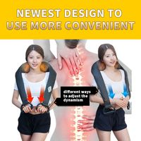 JKR Wireless Massage Cape Cervical Massages Device Neck Kneading Infrared Heating Electric Multifunctional Massageador Shiatsu