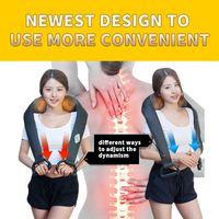 JKR Wireless Massage Cape Cervical Massages Device Neck Kneading Infrared Heating Electric Multifunctional Massageador Shiatsu