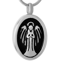 IJD9459 5/10/20 Hurtownie jesteś Moim Anioł Kobiet Man Pomnik Popiołu Kremacja Keepsake Biżuterii Ze Stali Nierdzewnej wisiorek Naszyjnik