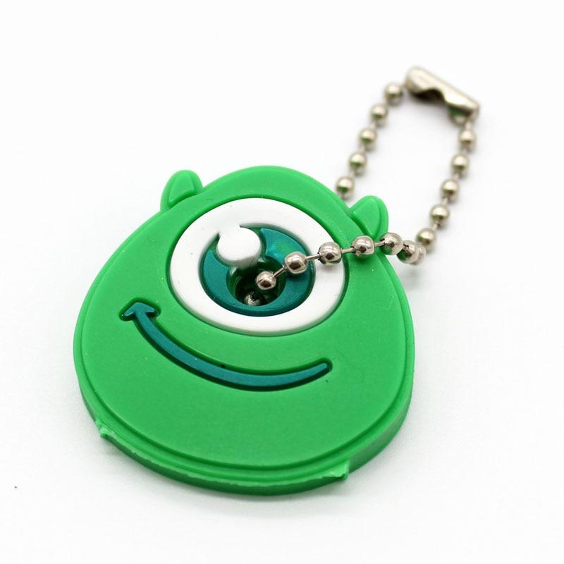 Милый мультяшный силиконовый защитный чехол для ключа для управления ключом пылезащитный чехол-держатель анимационные фигурки Подвеска для ключа держатель для ключей - Цвет: N