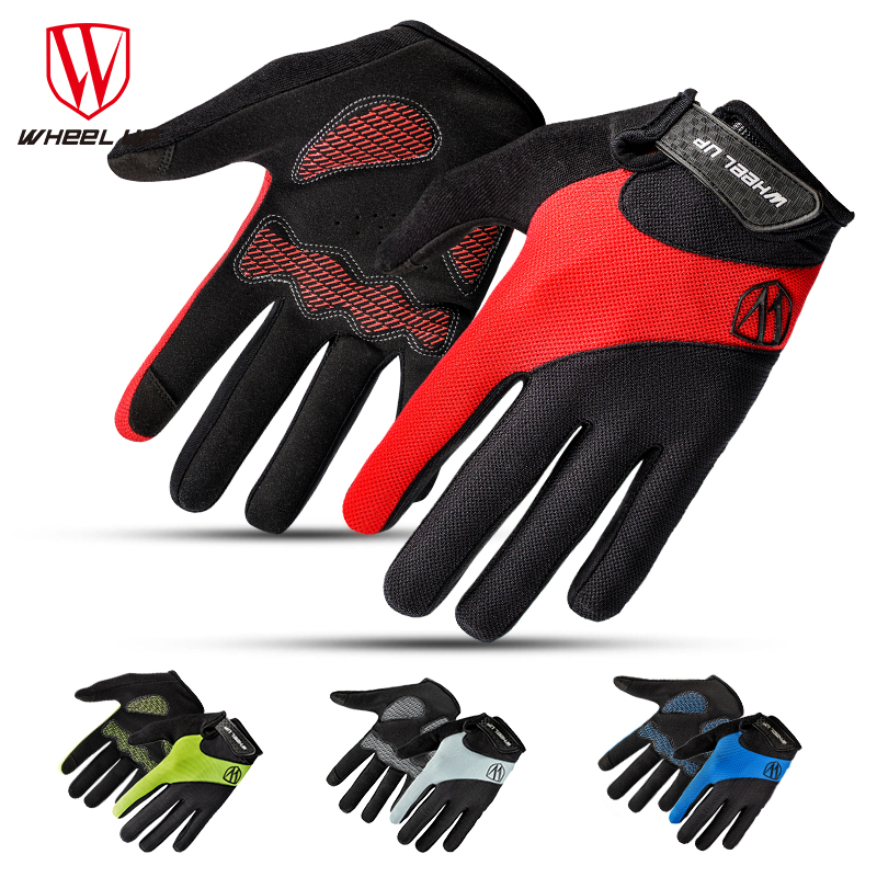 WHEEL UP Cycling Gloves Full Finger Breathable Windproof Sports Gloves Touch Screen Men Women Bicycle Gloves Cycling Equipment