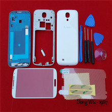 Replacement Cell Phone Case Full Housing Cover Case Door Back Battery Cover Case Screen Glass Lens For Samsung Galaxy S4 i9500