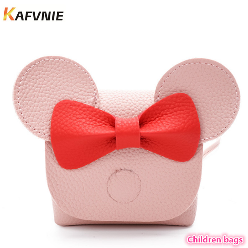 2018 Hot New Kids PU Cute Crossbody Children Girls Satchel Shoulder Bags Princess Handbag Lovely Messenger Bag High Quality girls mini messenger bag cute plush cartoon kids baby small coin purses lovely baby children handbags kids shoulder bags bolsa