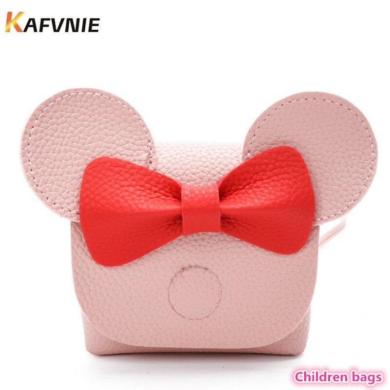 2018 Hot New Kids PU Cute Crossbody Children Girls Satchel Shoulder Bags Princess Handbag Lovely Messenger Bag High Quality