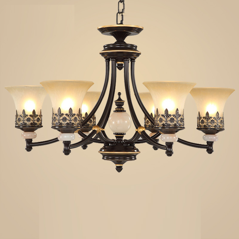 European style American Iron Chandelier retro living room restaurant chandelier modern bedroom clothing store coffee shop lights american style retro loft chandelier bar restaurant hot pot shop coffee iron chandelier led lamp 8 heads